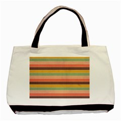 Abstract Vintage Lines Background Pattern Basic Tote Bag
