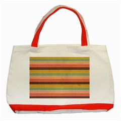 Abstract Vintage Lines Background Pattern Classic Tote Bag (red)