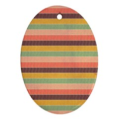 Abstract Vintage Lines Background Pattern Oval Ornament (Two Sides)