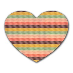 Abstract Vintage Lines Background Pattern Heart Mousepads