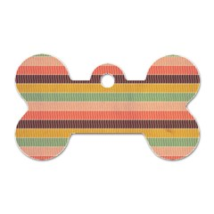 Abstract Vintage Lines Background Pattern Dog Tag Bone (one Side)