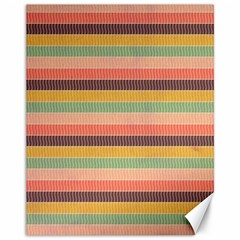 Abstract Vintage Lines Background Pattern Canvas 11  X 14