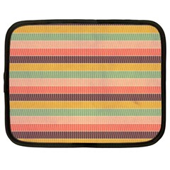 Abstract Vintage Lines Background Pattern Netbook Case (Large)