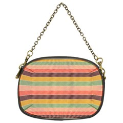 Abstract Vintage Lines Background Pattern Chain Purses (two Sides)