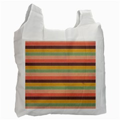 Abstract Vintage Lines Background Pattern Recycle Bag (two Side)