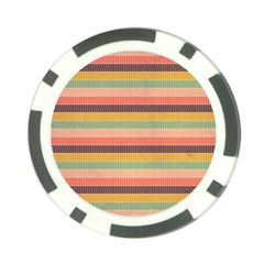 Abstract Vintage Lines Background Pattern Poker Chip Card Guard (10 pack)
