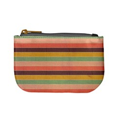 Abstract Vintage Lines Background Pattern Mini Coin Purses
