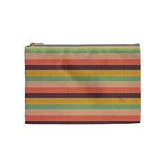 Abstract Vintage Lines Background Pattern Cosmetic Bag (Medium)
