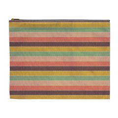 Abstract Vintage Lines Background Pattern Cosmetic Bag (XL)