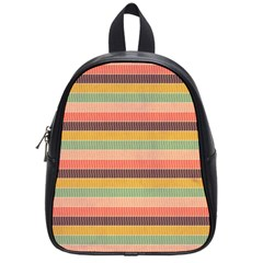 Abstract Vintage Lines Background Pattern School Bags (small)