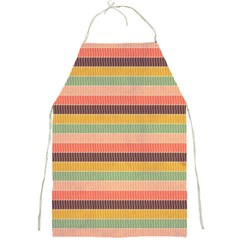 Abstract Vintage Lines Background Pattern Full Print Aprons