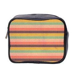 Abstract Vintage Lines Background Pattern Mini Toiletries Bag 2 Side