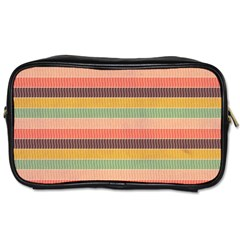 Abstract Vintage Lines Background Pattern Toiletries Bags 2 Side