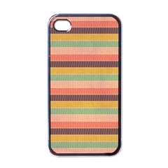 Abstract Vintage Lines Background Pattern Apple Iphone 4 Case (black)
