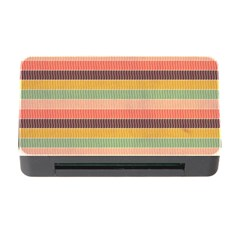 Abstract Vintage Lines Background Pattern Memory Card Reader With Cf