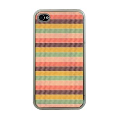 Abstract Vintage Lines Background Pattern Apple iPhone 4 Case (Clear)