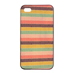 Abstract Vintage Lines Background Pattern Apple Iphone 4/4s Seamless Case (black)
