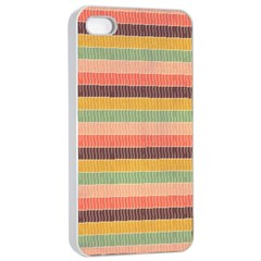 Abstract Vintage Lines Background Pattern Apple Iphone 4/4s Seamless Case (white)