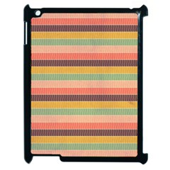 Abstract Vintage Lines Background Pattern Apple Ipad 2 Case (black)