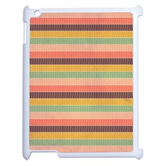 Abstract Vintage Lines Background Pattern Apple Ipad 2 Case (white)
