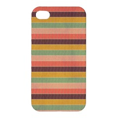 Abstract Vintage Lines Background Pattern Apple Iphone 4/4s Hardshell Case