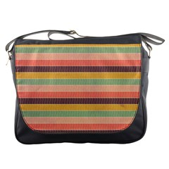 Abstract Vintage Lines Background Pattern Messenger Bags