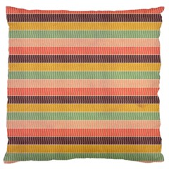 Abstract Vintage Lines Background Pattern Large Cushion Case (two Sides)