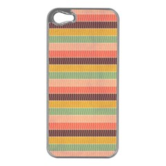 Abstract Vintage Lines Background Pattern Apple Iphone 5 Case (silver)