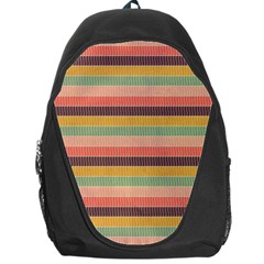 Abstract Vintage Lines Background Pattern Backpack Bag