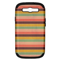 Abstract Vintage Lines Background Pattern Samsung Galaxy S III Hardshell Case (PC+Silicone)