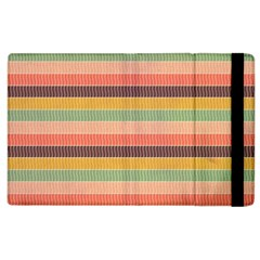 Abstract Vintage Lines Background Pattern Apple Ipad 2 Flip Case