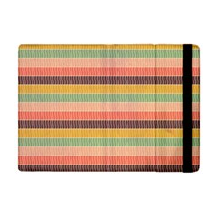 Abstract Vintage Lines Background Pattern Apple Ipad Mini Flip Case