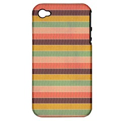 Abstract Vintage Lines Background Pattern Apple Iphone 4/4s Hardshell Case (pc+silicone)