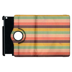 Abstract Vintage Lines Background Pattern Apple Ipad 3/4 Flip 360 Case
