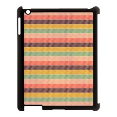 Abstract Vintage Lines Background Pattern Apple Ipad 3/4 Case (black)