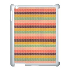 Abstract Vintage Lines Background Pattern Apple Ipad 3/4 Case (white)
