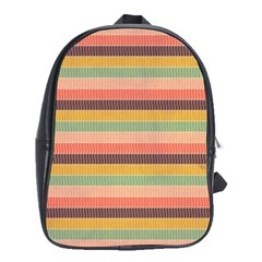 Abstract Vintage Lines Background Pattern School Bags (XL)
