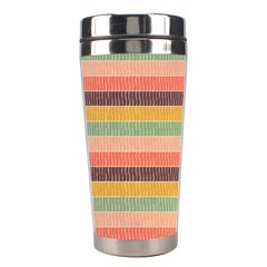 Abstract Vintage Lines Background Pattern Stainless Steel Travel Tumblers