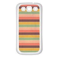 Abstract Vintage Lines Background Pattern Samsung Galaxy S3 Back Case (white)