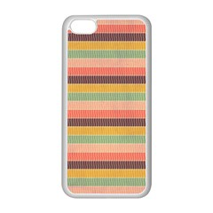 Abstract Vintage Lines Background Pattern Apple iPhone 5C Seamless Case (White)