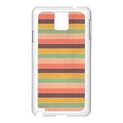 Abstract Vintage Lines Background Pattern Samsung Galaxy Note 3 N9005 Case (White)