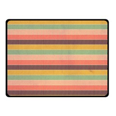 Abstract Vintage Lines Background Pattern Double Sided Fleece Blanket (Small)