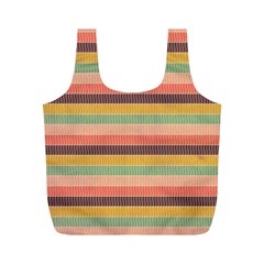 Abstract Vintage Lines Background Pattern Full Print Recycle Bags (M)
