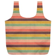 Abstract Vintage Lines Background Pattern Full Print Recycle Bags (l)