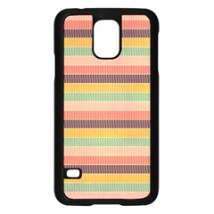 Abstract Vintage Lines Background Pattern Samsung Galaxy S5 Case (black)