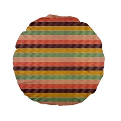 Abstract Vintage Lines Background Pattern Standard 15  Premium Flano Round Cushions