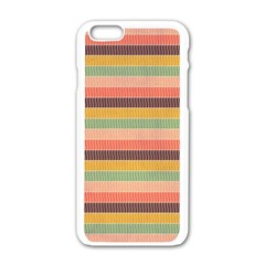 Abstract Vintage Lines Background Pattern Apple Iphone 6/6s White Enamel Case