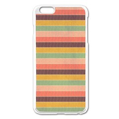 Abstract Vintage Lines Background Pattern Apple iPhone 6 Plus/6S Plus Enamel White Case