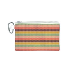 Abstract Vintage Lines Background Pattern Canvas Cosmetic Bag (s)