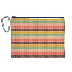 Abstract Vintage Lines Background Pattern Canvas Cosmetic Bag (XL)